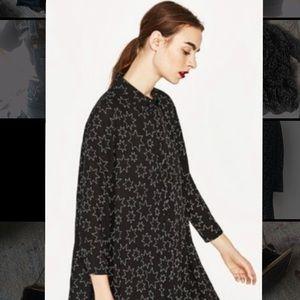 Zara stellar oversized long black tshirt